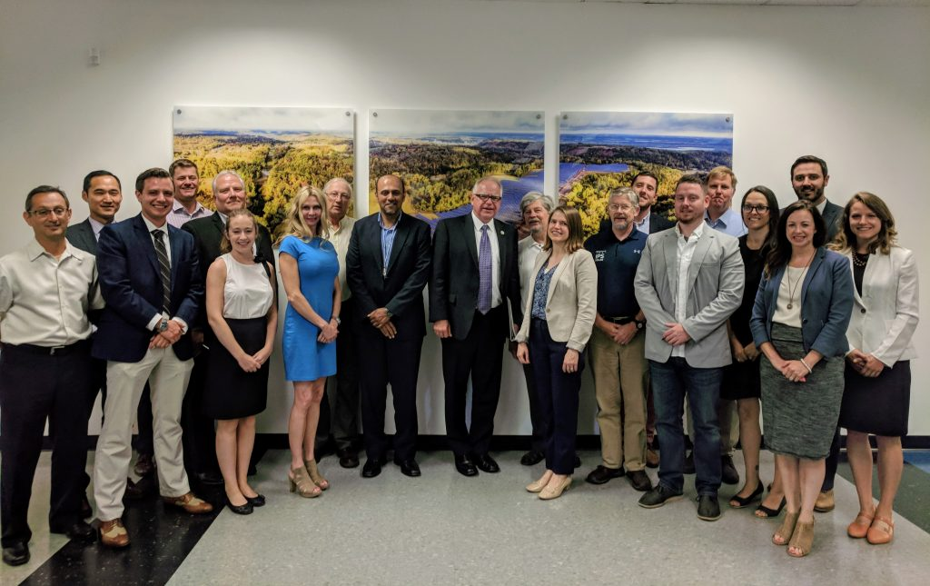 Congressman Tim Walz with clean energy business leaders