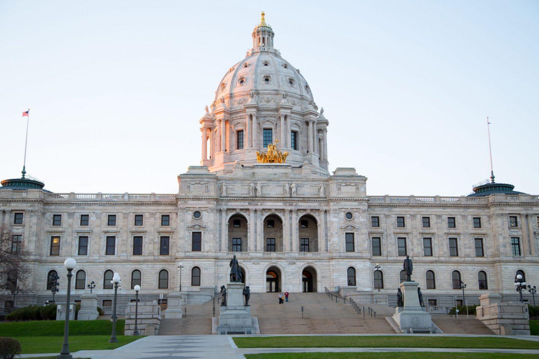 minnesota state capitol in daylight