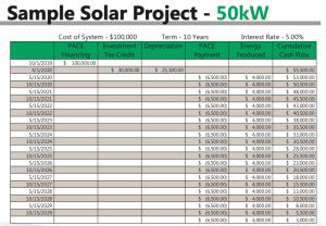 sample 50kw solar project