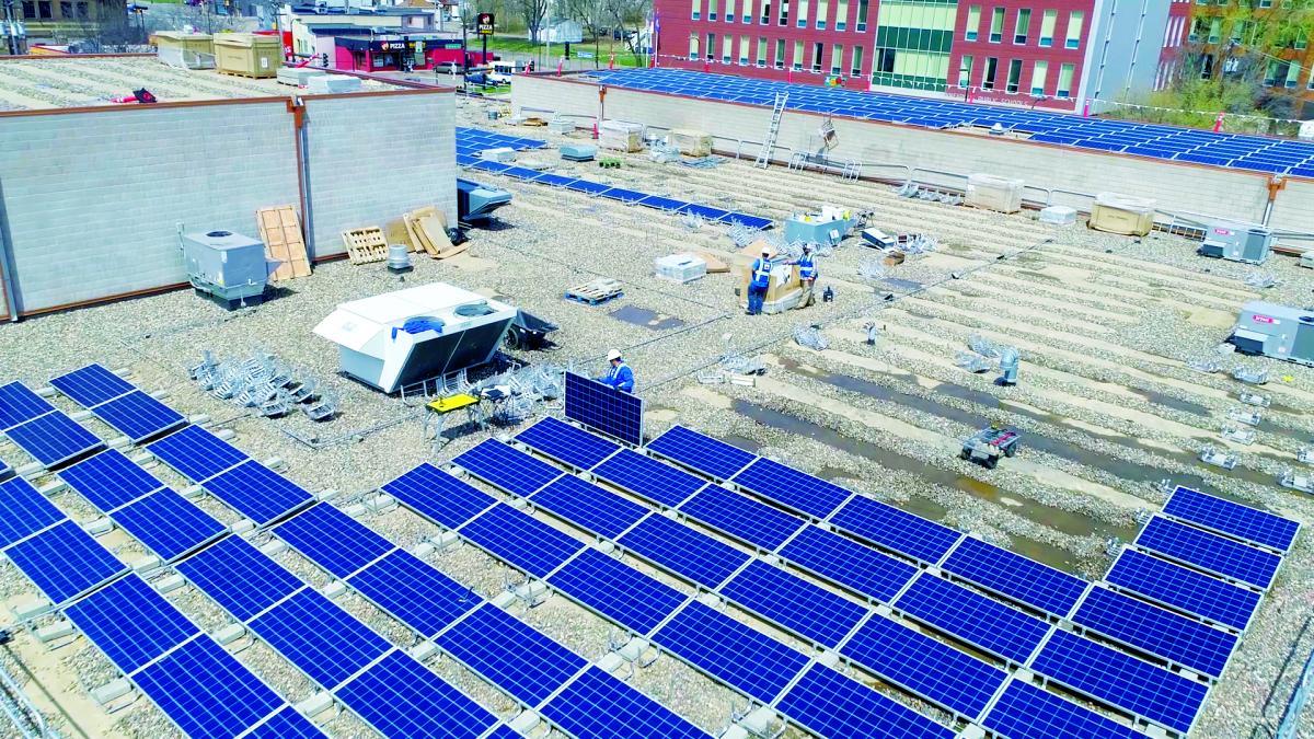 solar on minnesota roof