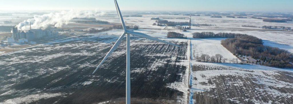 wind turbine in albert lea