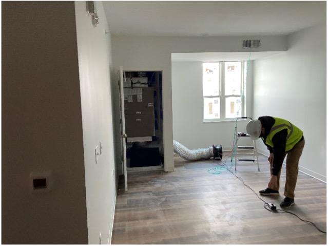 worker in energy efficiency project