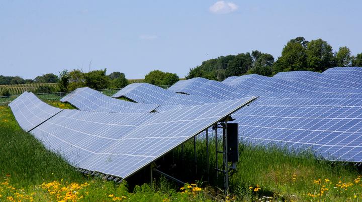 Solar garden designed by EVS, Inc.