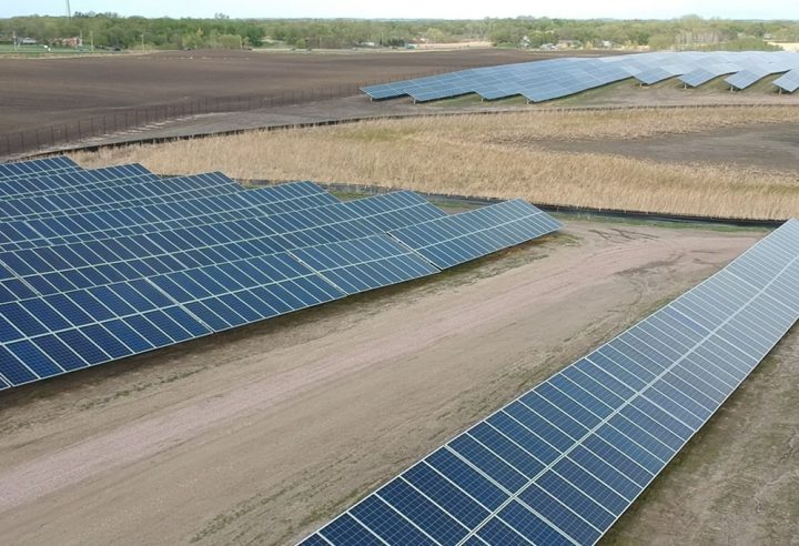 Solar panels at Mortenson site