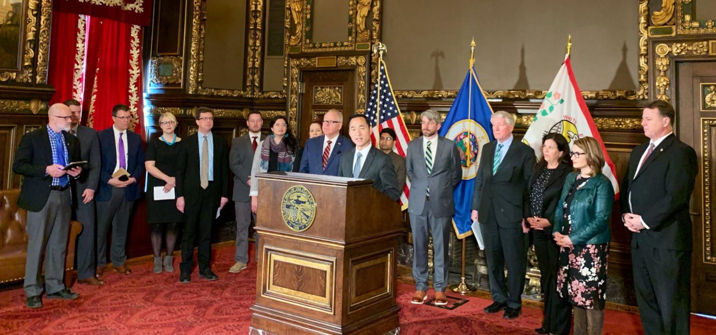 Press conference at the Capitol