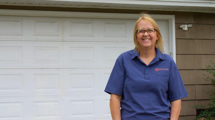Donna Pickard on a job site