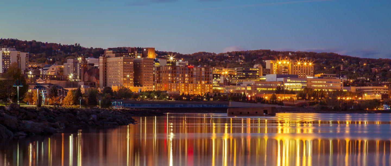 Night panoramic of Duluth